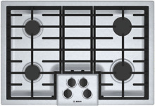Bosch NGM5056UC 500 Series 30 Inch Gas Cooktop with 4 Sealed Burners