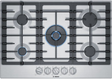 Bosch NGM8057UC 30 Inch Gas Cooktop with 5 Sealed Burners Stainless Steel