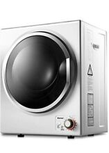 Compact Laundry Dryer  110V Electric Portable Clothes Dryer  Stainless Steel Tub