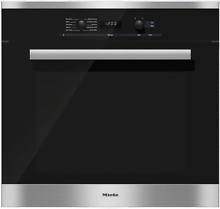 Miele H6281BPSS PureLine 30 Inch Single Electric Wall Oven in Clean Touch Steel