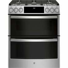 GE Profile Series 30  Slide In Front Control Gas Double Oven Stainless Steel