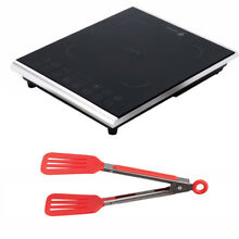 Fagor Portable 1800 Watt Induction Cooktop w  8 inch Nylon Flipper Tongs