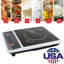 Portable Digital Electric Induction Cooktop Countertop Burner Cooker 2000W USA