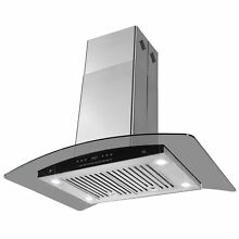 AKDY 30in Convertible Wall Mount Range Hood in Black RH0060