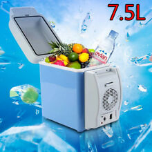 Portable 7 5L 12V Electric Car Mini Fridge Refrigerator Cooler Warmer Travel Box