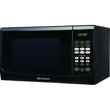 Emerson 0 9 Cubic Feet Microwave Oven in Black   MW9255B