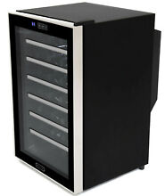 Whynter 28 Bottle Touch Control Stainless Steel Freestanding Wine Cooler