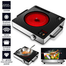2200W 220V Electric Induction Cooker Digital Touch Control Timer Cooktop Burner