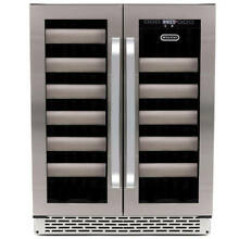 Whynter Elite 40 Bottle Built In Dual Zone Wine Refrigerator  Stainless Steel