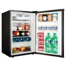 Haier Compact Refrigerator 4 5 cu ft  Silver Office Dorm Mini Fridge