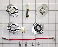 COMPLETE DRYER FUSE THERMOSTAT KIT FOR WHIRLPOOL KENMORE SEARS   CONTAINS PART