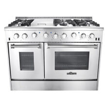 Thor 48  Home Kitchen Professional Stainless Steel 6 Burners Gas Range NG LPG