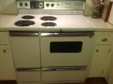 GE 40  Electric double oven white range