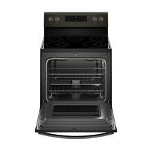 Whirlpool 30  5 3 cu  ft  Electric Range with Self Cleaning Oven Black Stainless