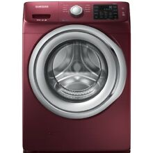 Samsung 4 2 cu ft Stackable Front Load Washer  Merlot  WF42H5200AF