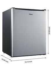 Stainless Steel Mini Refrigerator Compact Dorm Office Beverage Cooler Fridge NEW
