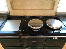 AGA four oven gas stove  classic British racing car green  excellent condition