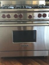 Wolf 36  6 Burners Convection Oven SS Pro Style Gas Range R366