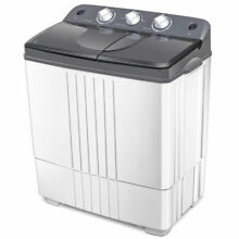 Compact Mini Portable Twin Tub Washing Machine 16Lbs Total Washer Spain Spinner