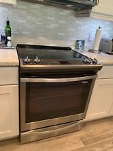 Whirlpool WEE730H0DS 30 Inch Slide in Smoothtop Electric Range