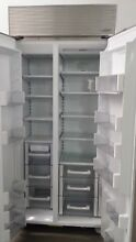 Sub Zero BI 36S F Built in side by side refrigerator freezer 36 inch overlay pnl