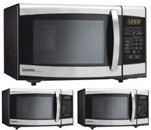 New Retro Countertop 700W  Microwave Oven in Black  Small  Dorm  Cabinet Stee
