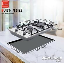 Gas Cooktop  Gasland chef Built in Stove Top  Stainless Steel LPG Natural
