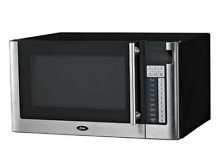 1000W Oster Microwave Oven   1 1 cu ft   Black and stainless steel   Free Ship