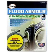 Danco 10763 Flood Armour Washing Machine Hose  6  Grey  2 Pack Protects Home