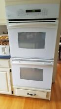 GE Profile 27  Built In Double Electric Convection Thermal Wall Oven White