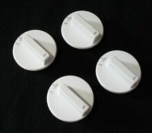 Set of 4 white Whirlpool burner control knobs part   Y0302593 stove range