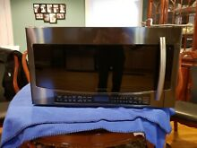 Samsung Black Stainless 30  Over The Range Microwave Oven Slim Fry MC17J8000CG