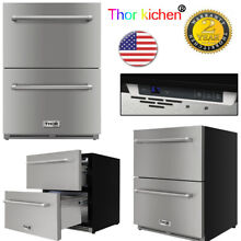 Thor Kitchen 24 in Double Drawer Under Counter Drawer Refrigerator Counter Depth