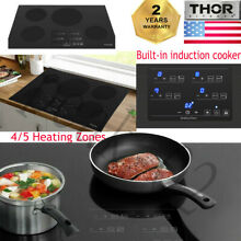 Thor 30 36 inch Induction Hob 4 Burner Stove Cooktop Black Glass Electric Cooker