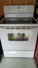 WHITE ELECTRIC STRANGE STOVE FRIGIDAIRE BRAND  WITH MANUAL