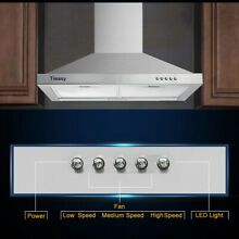 36  Under Cabinet Range Hood 1000 CFM Wireless Kitchen Stove Vent with LED Light