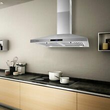 Under Cabinet 30  Stainless Steel Seamless Range Hood Kitchen Vent 350CFM w  LED