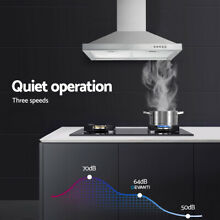 30 Inch Wall Mounted LED Kitchen Range Hood Stainless Steel 350CFM Vent New