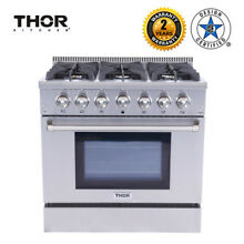 36inch Dual Fuel Range  With broiler radiates Oven  6 burners  Blue Thor Kitchen