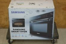 Samsung MC12J8035CT 1 2 Cu  Ft  StainlessBlack Smart Microwave Oven