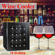 Compact Wine Cooler Refrigerator 8 12 16 Bottle Bar Ventilation Thermostat Fridg