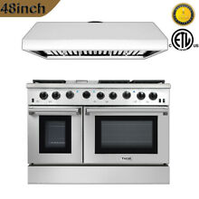 Thor 48inch Gas Range 6 Cooktop LRG4801U and Under Cabinet Range Hood HRH4806U