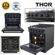 Thor 30  Gas Range Oven Cooktop Griddle 4 Burner Stainless Steel 4 2 Cu  Ft  US
