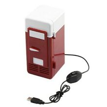 USB Powered Mini Fridge Can Cooler Refrigerator Beer Soda Neon Red