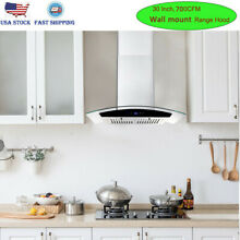 30 inch Under Cabinet Range Hood 350CFM Kitchen Over Stove Vent Reusable Filters