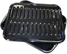 Broiler Pan Oven Porcelain Drip Roast Cookware Rack Durable Dishwasher Safe NEW