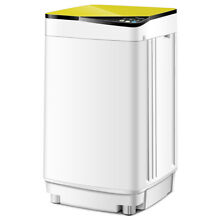 Full Automatic Washing Machine 10 lbs Washer Spinner Germicidal UV Light Yellow