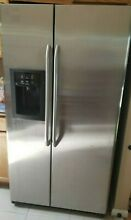 GE Side by Side Refrigerator Ice   Water Dispenser GSS25SGSD Stainless