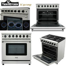 Thor 36 Gas Range Cooktop Stove Oven LRG3601UStainless Steel 6 Burner Upgrade