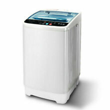 Portable Compact Full Automatic Washing Machine Spin Dryer Laundry 8LBS  White